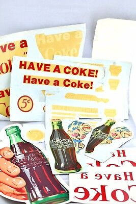 "Vintage New Old Stock Coca Cola Decals Sticker Spirit Boy 10""/8"" Hand Bottle 14"""
