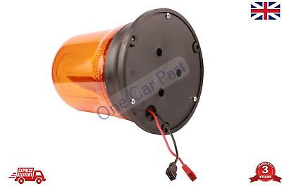 Rotating Flashing Amber Hazard Beacon 24V Screw MOUNT High Quality