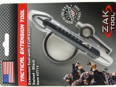 Zak Tool Black Carbon Fiber Swivel Extension Tool w/ Handcuff Key ZT-15
