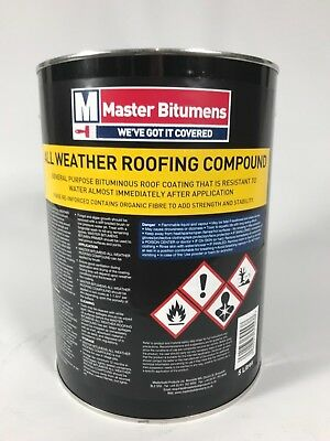 5 Litre All Weather Roofing Compound Bitumen Waterproof Roof Coating