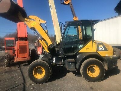 2012 KOMATSU WA80-6 Mini Wheel Loader / LOW HOURS / WA 80 / 12,000 Lbs Loader