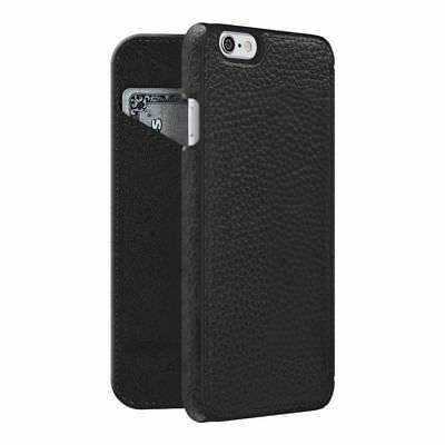 iPhone 6 6s Flip Case Wallet REAL GRAINED BLACK LEATHER CC Slot by Adopted Boxed