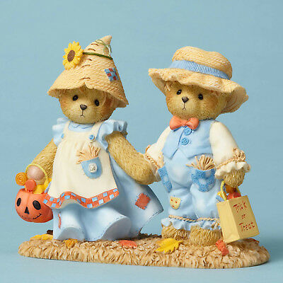 Cherished Teddies Halloween Scarecrow Bears New Sale 4053446