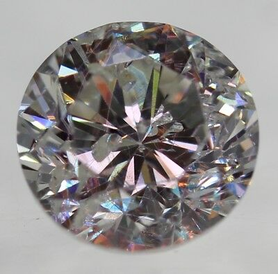 Certified 0.48 Carat F SI2 Round Brilliant Enhanced Natural Loose Diamond 4.83mm