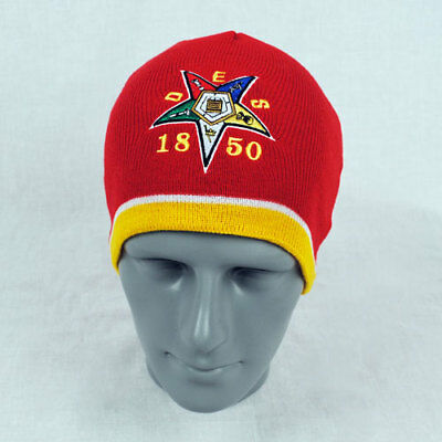 Order of the Eastern Star OES Beanie- Red-New!