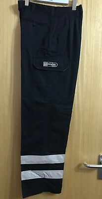 Workman Trousers Workmens Hi Viz Heavy Duty Trouser Knee Pad Pockets Work Cotton