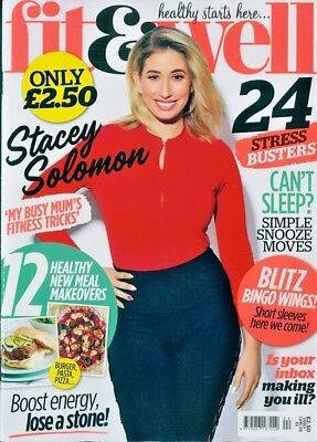 Fit & Well Magazine March 2018 ~ Stacey Solomon Cover ~ New ~