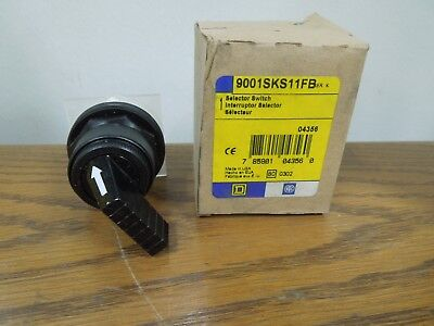 Square D 9001SKS11FB 2 Position Maintained Selector Switch Long Handle Surplus