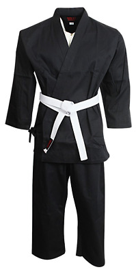Adult Kids Karate  Uniform Suits 100 % Brushed Cotton + Free Belt In All Sizes
