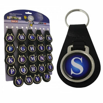 Initial Leather Key Fob - H