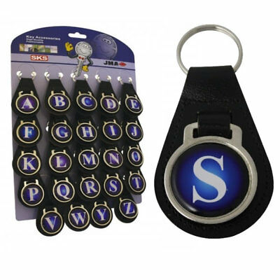 Initial Leather Key Fob - D