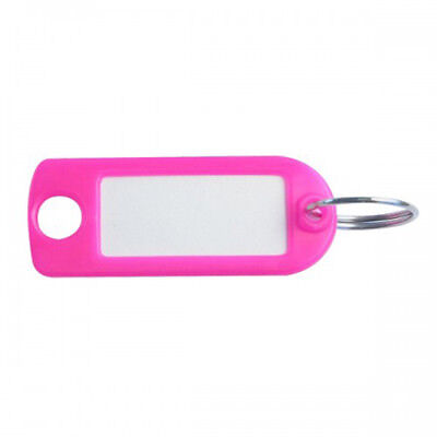 Plastic Key Tags - Neon