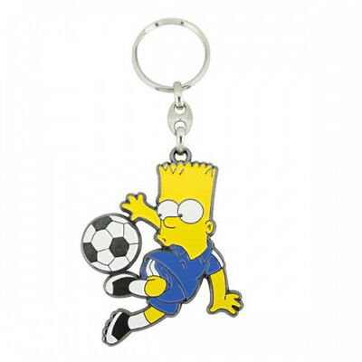 Bart Playing Football Keyring