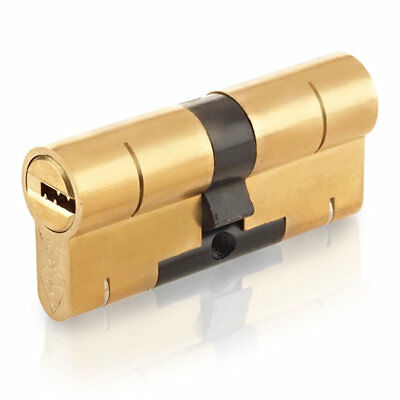Yale Superior Euro Double Cylinder 50/50 100mm Brass