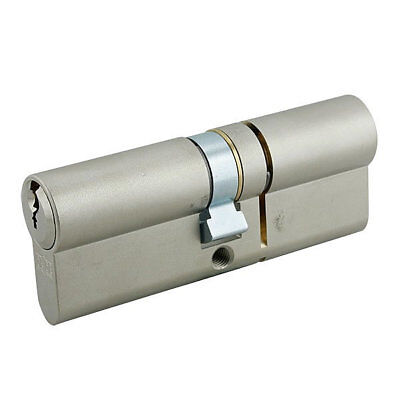 GeGe pExtra Guard 3 Star Euro Double Cylinder 55/55 110mm Nickel