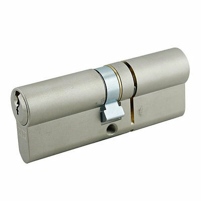 GeGe pExtra Guard 3 Star Euro Double Cylinder 35/45 80mm Nickel