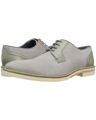 b0358abc17f7d4 NIB MEN S Ted Baker SIABLO LIGHT GREY PERFORATED SUEDE Shoes SIZE 8 US 349