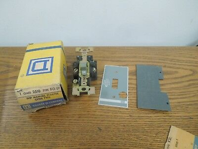 Square D 2510-FO-1P FHP Manual Starter Open Type New Surplus