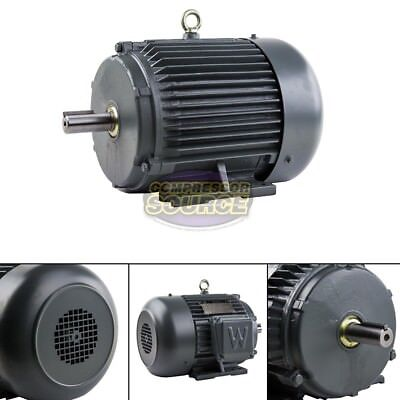 5 HP 3 Phase Electric Motor 1800 RPM 184T Frame TEFC 230/460 Volt Severe Duty