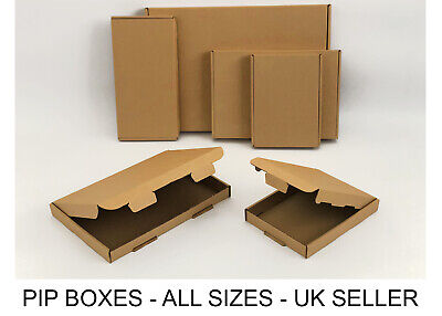 Royal Mail PiP Boxes For Large Letters C4, C5, C6 DL Card board Postal Mailing