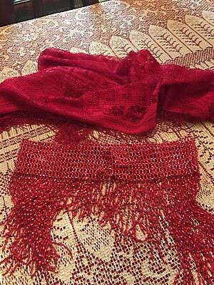 red hat society lot. Shawl very nice waist sash something different and cute.