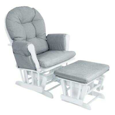 White Grey Baby Mother Footstool Chair Nursing Rocking Foot Stool Bedtime Relax
