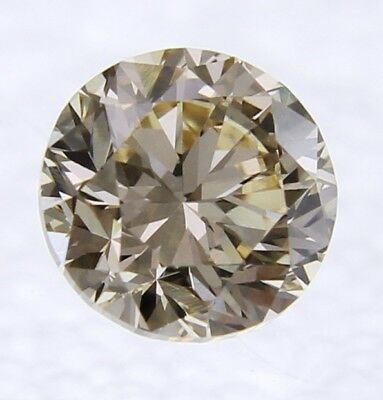 0.25 Carat Fancy Intense Brown VS2 Round Brilliant Natural Loose Diamond 3.86mm