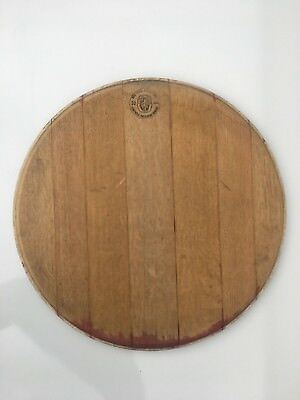Used Retired Wine Barrel Head Top Lid Oak Keg Repurpose