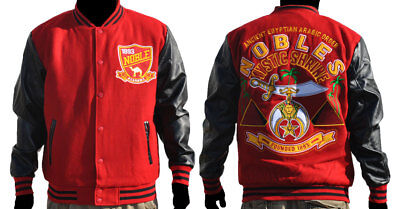 Shriners Ancient Egyptian Arabic Order Wool Varsity Jacket