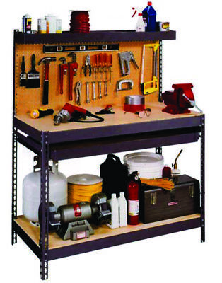 Steel and MDF workbench for home and industrial use 1220 Wide x 630 x Deep
