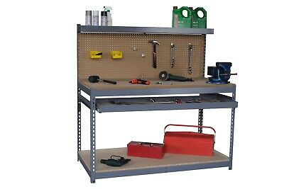 Steel and MDF workbench for home and industrial use 1520 mm Wide x 760 Deep