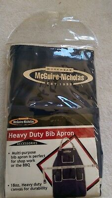 McGuire-Nicholas Heavy Duty Bib Apron Canvas, Work  Shop Work Machinist