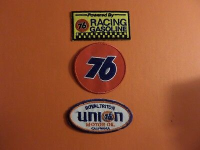 """Lot Of 3 - """" Union 76"""" Motor Oil """" Embroidered Iron Patches #194"""