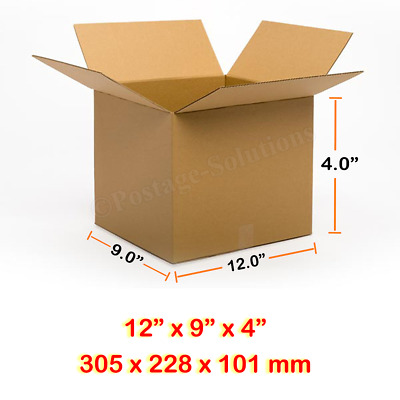 12x9x4 Inches Single Wall Brown Corrugated Cardboard Postal Mailing Boxes Cheap