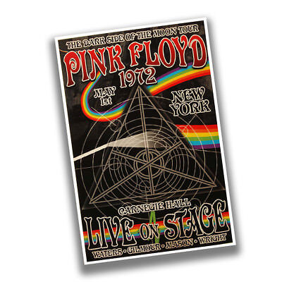 1972 Pink Floyd New York Carnegie Hall Live On Stage Reproduction Concert Poster