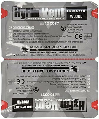 North American Rescue Hyfin Vent Chest Seal 2 Count First Aid Medic Gear Field