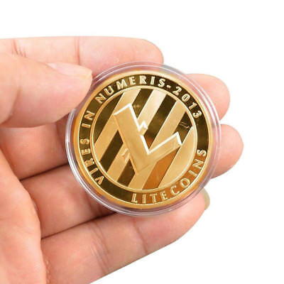 Gold Plated LTC Coin Commemorative Physical Litecoin Collectible Miner Coin Gift
