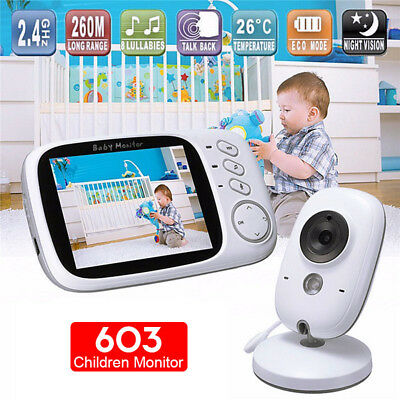 3.2 inch Wireless Video Baby Monitor HD Baby Nanny Security Camera Night Vision