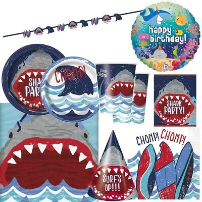 Shark Ocean Animal Party Tableware, Decorations and Balloons