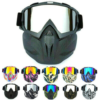 Motorcycle Face Mask Goggles for Harley Shield MX Dirt Bike Motocross Eyewear