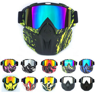 Motorcycle Riding Harley Style Face Mask Mouth Filter with Detachable Goggles