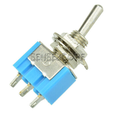 5Stks Mini 6A 125VAC SPDT MTS-102 3-Pin 2 Position On-on Toggle Switches Practic