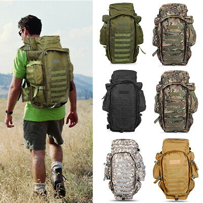 60L Large Mountaineering Climbing Backpack Outdoor Military Tactical Travel Bag