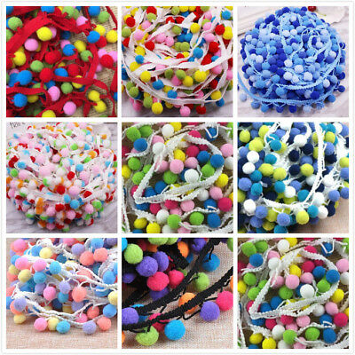 15mm Pompon Ball Trims Ribbon DIY Sewing Accessory Lace decoration 2 yard/lot