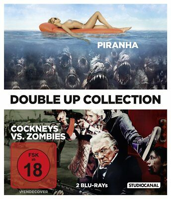 PIRANHA (2010) & COCKNEYS VS ZOMBIES - Blu-Ray Disc - Double Feature !
