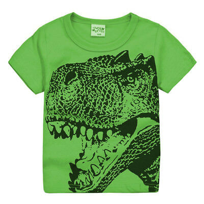 US Stock Kids Boy Baby Dinosaur T-shirt Tees Toddler Cotton T Shirt Tops Clothes