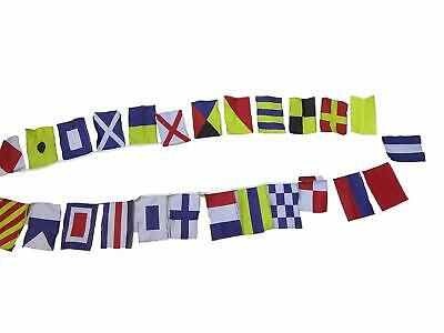 MARINE NAVY Signal Code FLAG - String of 26 flags Bunting - 11 Feet – COTTON