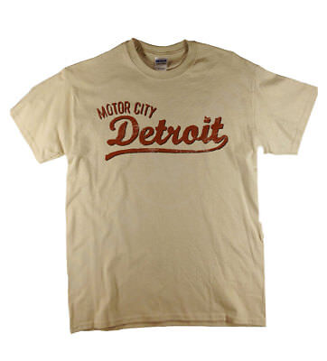 Motor City Detroit Americana Natural T-Shirt Ideal Gift Free Delivery UK