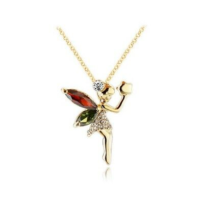 Gold Tone 925 silver Mythical Fairy Pendant Necklace for Girls Teens and Women