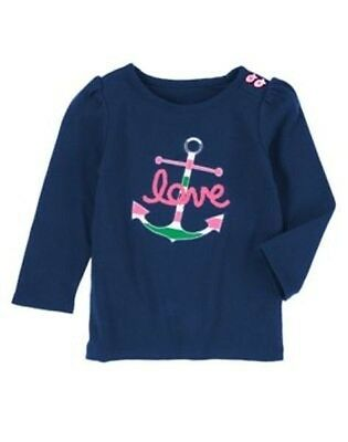 NEW Gymboree Stripes and Anchor 12 18 24mos 2T 3T 4T Love Anchor Tee Toddler